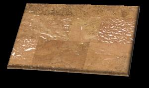 Merida II White Backing - Cork Floor Tiles
