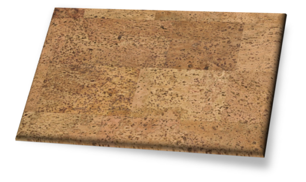 Merida I - Traditional Gluedown Cork Wall Tile. Unfinished.