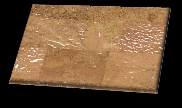 Merida II White Backing (Wall) - Traditional Gluedown Cork Wall Tile. Unfinished.